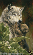 WOLF PRECIOUS MOMENTS - 3D LENTICULAR MOVING PICTURE POSTER 400mm X 300mm (NEW)