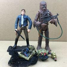 New Star Wars LEGACY Han Solo, Chewbacca & C-3PO Action Figures loose toys S447