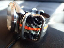 XULU 5 RINGS BALISTIC NYLON STRAP H-D COLOURS FOR YOUR MOD.SEIKO OR BOSTOK ST-01