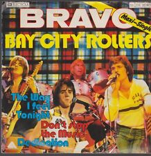 """7"""" BRAVO MAXI SINGLE 3 titolo Bay City Rollers Don 't Stop the Music/Dedication"""