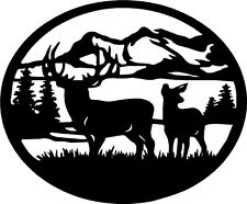 "Deer Wildlife Vinyl Decals Stickers (12"" x 10"")"