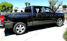 2014-2016 Chevy Silverado Double Cab 5.8' Bed Body Side Molding Chrome 12Pc