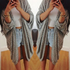 2016 Womens Lady Casual Loose Knit Sweater Pullover Jacket Coat Cardigan Jumpers