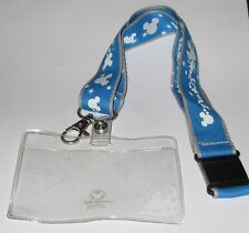 Retired Disney Store Employee Mickey Mouse Lanyard with Name Tag / Card Holder