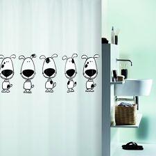 Beagle Black Hund Duschvorhang 180 x 200 cm. 100% PEVA Schwarz Weiß Markenware