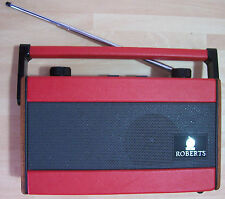 REFURBISHED VINTAGE 1995 ROBERTS R717  BATTERY  RADIO in RED