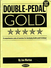 Joe Morton Double Pedal Gold Learn to Play Drums Drummer Music Book & CD