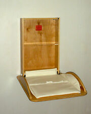Wall mounted baby changing table hand made in Vermont, USA
