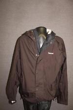 TIMBERLAND Mens Medium black wind rain parka Jacket Hoodie zip up waterproof