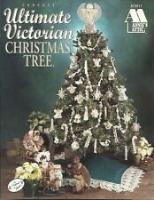 Ultimate VICTORIAN Christmas Tree Crochet Pattern Book Ornaments Skirt Angel NEW