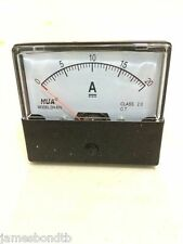 Analog Amp Panel Meter Current Ammeter DC 0-20A