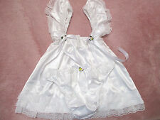 PRETTY BABY DOLL WHITE  SATIN SISSY DRESS AND PANTY  SIZE 4X