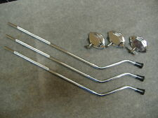 (NEW) Set of 3 Floor Tom Drum Legs w/Mount, Brackets. Complete w/Screws. 9.5mm