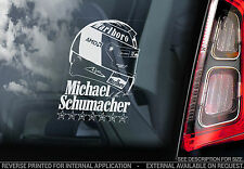 Michael Schumacher - F1 Car Window Sticker -Formula 1 HELMET Ferrari Schumi TYP3