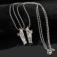 2PC Retro The Nightmare Before Christmas Jack Skellington Sally Necklace Pendant