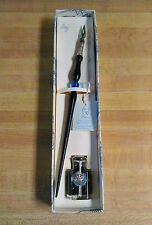 Murano glass and 800 silver dip/nib pen. New in box with sealed ink bottle.