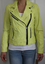 NWT Rachel Roy Faux Leather Motorcycle Assymetrical zip Jacket L yellow $299