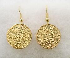 Medieval Coin Earrings (Quarter-Noble), Gold Plated, British Made, Gift Boxed