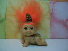"CRAWLING AMERICAN INDIAN BABY -  2"" Russ Troll Doll - NEW IN ORIGINAL WRAPPER"