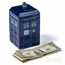 New Doctor Who Ceramic TARDIS Money Box Piggy Bank Coin Official Licensed