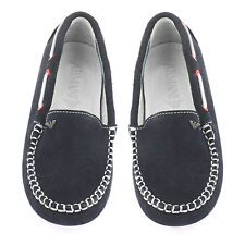 Armani Junior Boys Navy Blue Loafers/Shoes Size EU 30 / UK 12 BNWB