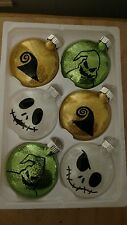 Disney's Nightmare Before Christmas Ornaments Halloween set of 6 Glass Ornaments