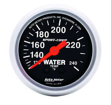 "Auto Meter 3332 Sport-Comp Mechanical Water Temperature Gauge 2 1/16"" (52mm)"