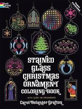 Holiday Stained Glass Coloring Book: Stained Glass Christmas Ornament...