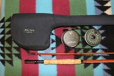 Vintage Fly Rod Reel Combo Hedron Pal Rod & Seiko Daiwa Reel with Solid Case