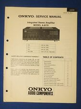 ONKYO A-8170 INTEGRATED AMP SERVICE MANUAL FACTORY ORIGINAL ISSUE THE REAL THING