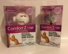 NEW-Comfort Zone W/ Feliway- Diffuser Starter Kit & Refill Pheromone -2 For   1