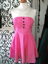 Laura Lees Little Miss Sew Hot Pink Satin Shiny 50's Dress Net Trim Asos BNWT