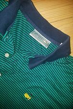 Mens Augusta National Golf Shop Masters Polo Shirt Size Large L Striped