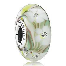 ORIGINAL PANDORA CHARM MURANO ELEMENT 791638 CZ WILDBLUMEN SILBER  BEADS