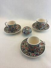 Vintage Mid Eastern Iznik Turkish Marmara Cini pottery Kutahya signed Set