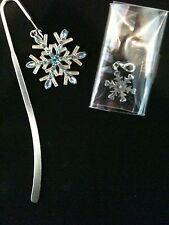 PAST TIMES snowflake book mark and charm