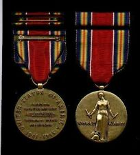 WWII Victory medal with ribbon bar World War 2 WW2
