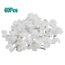 60 Pcs Wall Mount 5mm Dia Electric Cable Circle Nail Clips Fasteners CP