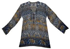 Indian boho cotton ethnic TOP HIPPIE BLOUSE retro gypsy TUNIC dress vintage look