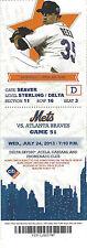 Rick Reed 2x All-Star Mets vs. Braves Citi Field Stub July 24 2013 Game 51