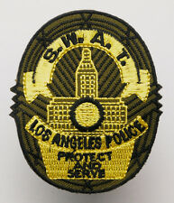 "US POLICE ""SWAT TEAM"" Shield - Iron-On Embroidered Patch - MIX 'N' MATCH - #2N09"
