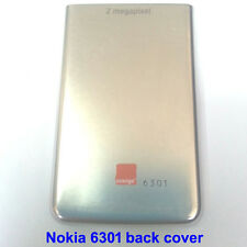 100% Genuine Original Nokia 6301, 6300 Back Battery Cover Fascia Housing -Silver