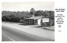 1930-50 Real Photo PC San Antonio Date Shop CA Hwy 111 Indio Palm Spgs Frashers