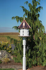 15 Hole Bird House COPPER  3 foot Tall  35 x 21 Martin house Amish Made in USA