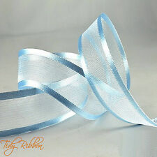 Quality Cut Lengths Satin Edge Organza Ribbon 10mm 15mm 25mm 40mm Crafts Tying