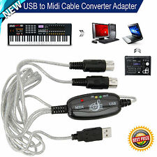 Convertidor de Cable Adaptador Usb A Midi Interfaz música de piano para Laptop PC Teclado