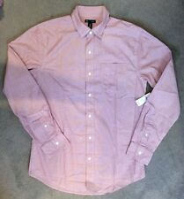 GAP SHIRT IN LIGHT RED THIN STRIPES WITH WHITE DOTS -SLIM FIT - L- BNWT