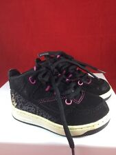 Toddler Baby Phat  Tennis Shoes. Size 5 Black & Pink