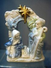MINIATURE CERAMIC NATIVITY JOESPH, MARY & JESUS