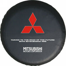 "Spare Wheel Tire Cover Series Mitsubishi Montero 30"" Black Denim Tire Cover New"